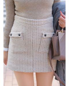 382 Wool Skirt High Waist