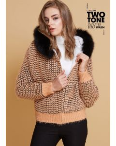 390 Two tone sweater extra warm
