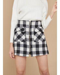 081 Wool Tweed Skirt